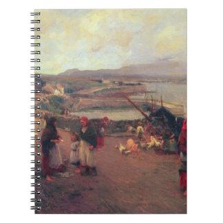 Un pueblo de Connemara - la manera al puerto, 1898 Libreta