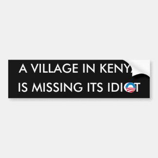 Un pueblo en Kenia está faltando a su idiota Pegatina De Parachoque