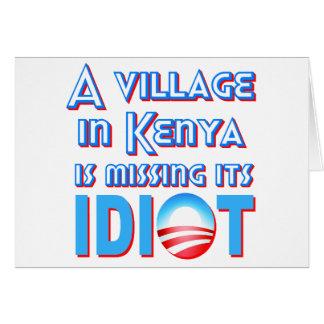 Un pueblo en Kenia está faltando a su idiota Obama Felicitación