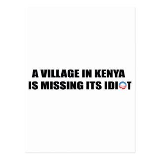 Un pueblo en Kenia está faltando a su idiota Tarjetas Postales