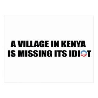 Un pueblo en Kenia está faltando a su idiota Tarjeta Postal