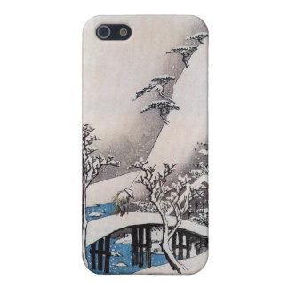 Un puente en un paisaje Nevado, Ando Hiroshige iPhone 5 Protector