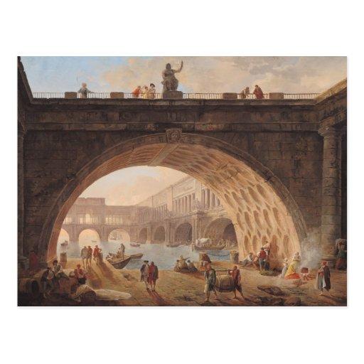 Un puerto, c.1760 postal