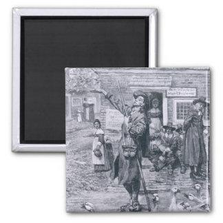 Un Quaker Exhorter en Nueva Inglaterra Imán Cuadrado