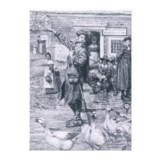Un Quaker Exhorter en Nueva Inglaterra Impresiones De Lienzo