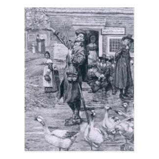 Un Quaker Exhorter en Nueva Inglaterra Tarjeta Postal