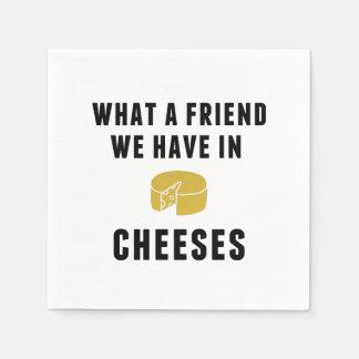 Un qué amigo tenemos en quesos servilletas de papel