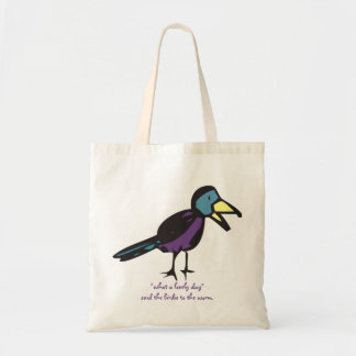 """un """"qué bolso del pájaro del día precioso""""… bolsa tela barata"""