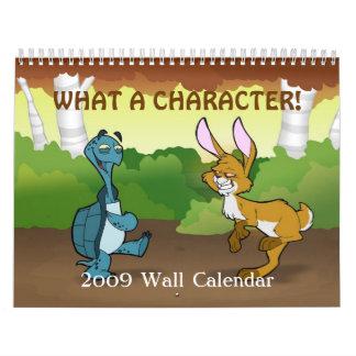 """Un """"qué calendario de pared del carácter"""" 2009"""