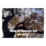 Un qué dios impresionante servimos (la escena del  tarjeton
