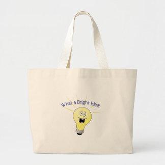 Un qué ideal brillante bolsa tela grande