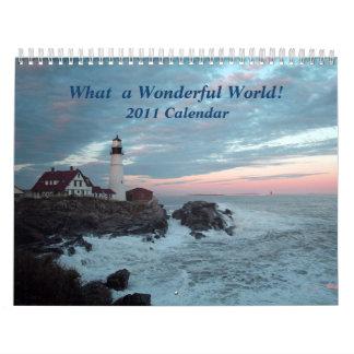 ¡Un qué mundo maravilloso! ¡Calendario 2011! Calendario De Pared