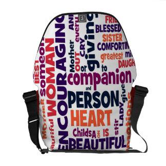 Un qué para mujer digno de la bolsa de mensajero ( bolsas messenger