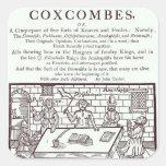 Un racimo de Coxcombes de John Taylor Pegatina Cuadrada