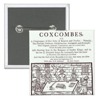 Un racimo de Coxcombes de John Taylor Pin Cuadrada 5 Cm