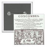 Un racimo de Coxcombes de John Taylor Pin Cuadrado