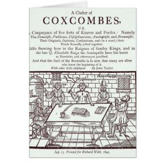 Un racimo de Coxcombes de John Taylor Felicitacion