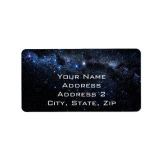 Un racimo de estrellas etiqueta de dirección