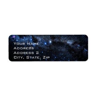 Un racimo de estrellas etiqueta de remitente