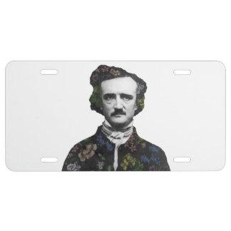 Un ramillete del Poe Placa De Matrícula