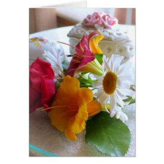 Un ramo del verano tarjeta de felicitación