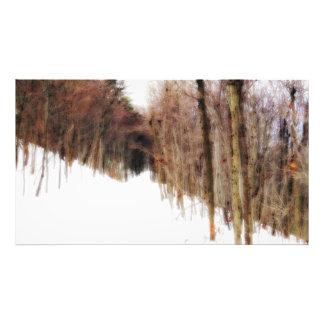 Un rastro en la impresión de la nieve