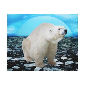 Un rato de los osos polares impresión en tela