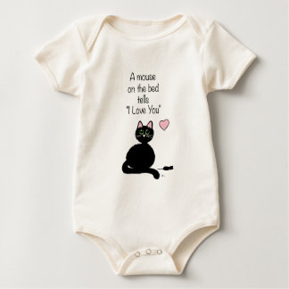Un ratón en la cama mamelucos de bebé