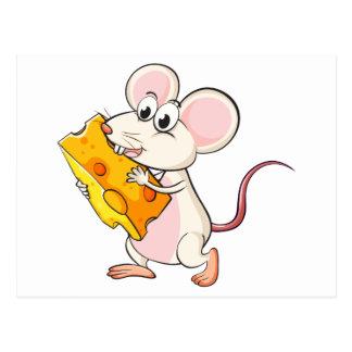 Un ratón que come el queso postal