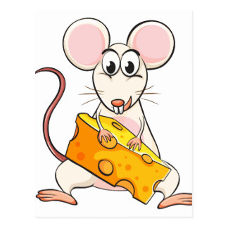 Un ratón y un queso postal