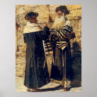 Un Rebbe en el Kotel por Vereshchagin - circa 1880 Póster