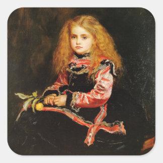 Un recuerdo de la bella arte de Velázquez Pegatina Cuadrada