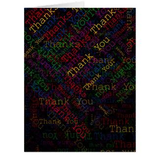 Un regalo agradecido a decir le agradece negro tarjeta de felicitación grande