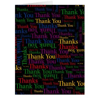 Un regalo agradecido a decir le agradece tanto tarjeta de felicitación grande