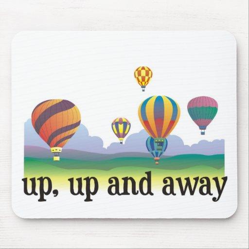 Un regalo colorido del vuelo del globo - el aire c mouse pad