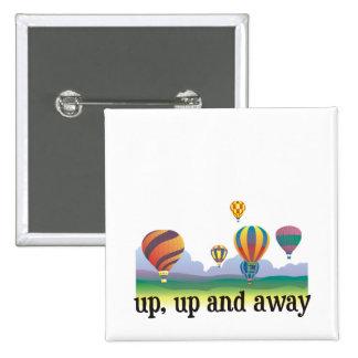 Un regalo colorido del vuelo del globo - el aire c pin cuadrado