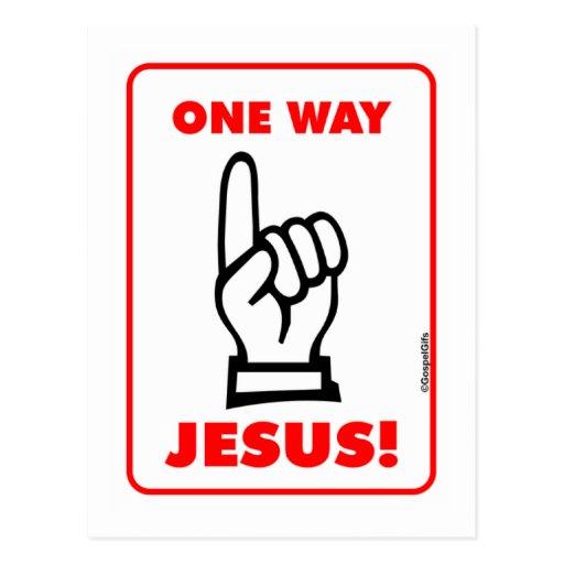 Un regalo cristiano de la placa de calle de Jesús  Postal