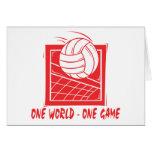 Un regalo del voleibol del juego del mundo uno felicitación