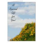 ¡Un regalo especial para usted! tarjeta de regalo