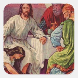 Un regalo para Jesús Pegatinas Cuadradases Personalizadas