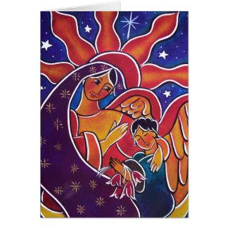 Un regalo para la madre bendecida en enero tarjeta de felicitación