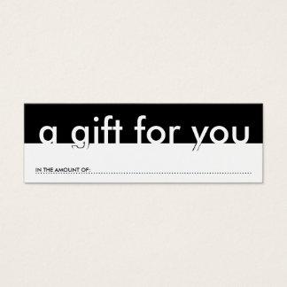 un regalo para usted (cantidad en blanco) tarjetas de visita mini