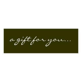 Un regalo para usted tarjetas de visita mini