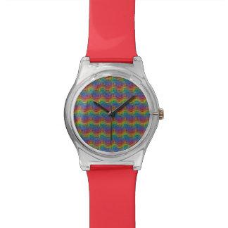Un reloj desigual del arco iris