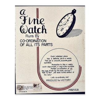 """Un reloj fino folleto 8.5"""" x 11"""""""