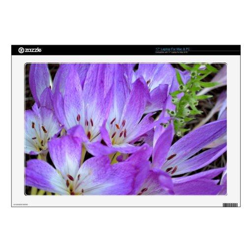 Un remiendo de las flores de Mazus Calcomanía Para Portátil