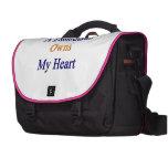 Un remiendo posee mi corazón bolsa para ordenador