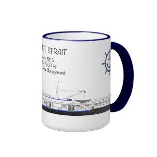 Un remolcador nombrado Janice E. Strait Tazas De Café