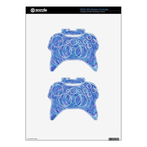 Un remolino abstracto del color en azul y púrpura mando xbox 360 skin