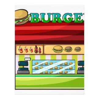 Un restaurante de comida rápida plantilla de membrete